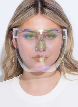 Extra Coverage Clear Face Shield Glasses