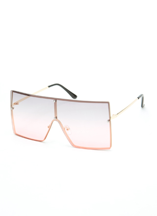 Squared Away Ombre Sunglasses
