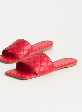 Style Squared Quilted Slide Sandals