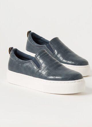 Crocodile Tale Slip-On Platform Sneakers