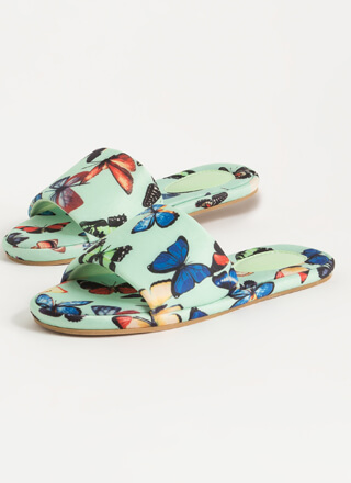 Butterfly Collector Padded Slide Sandals