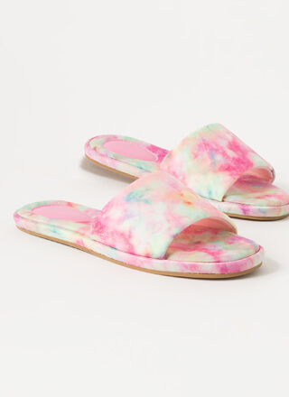 Tie-Dye Terrain Padded Slide Sandals
