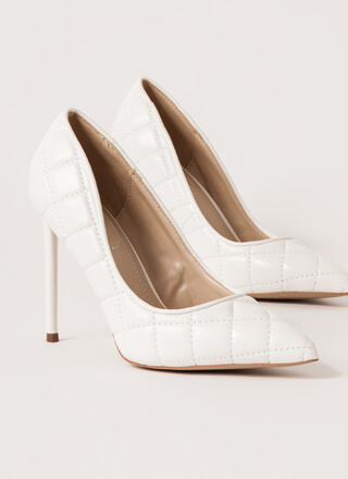 High Class Quilted Pointy Stiletto Pumps