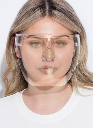 Cover Model Clear Face Shield Glasses