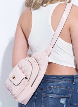 Small Luxury Quilted Mini Sling Backpack