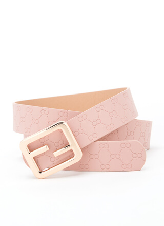 Stamp Of Approval Geometric Pattern Belt