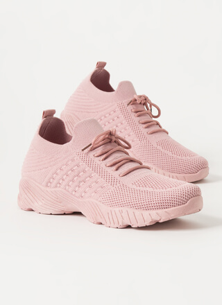 Stretch My Limit Textured Knit Sneakers