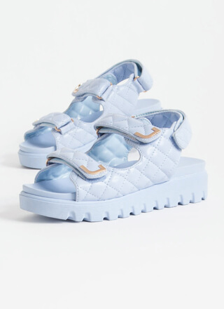 Casual Lady Quilted Platform Sandals
