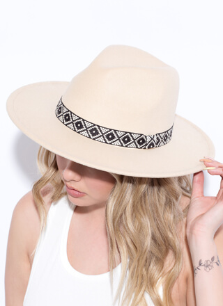 Head Southwest Woven Trim Fedora