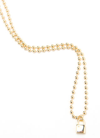 Lock It In Beaded Charm Necklace