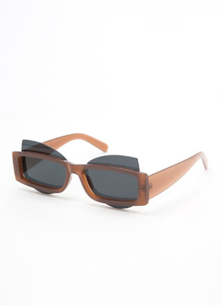 Get Stacked Protruding Lens Sunglasses