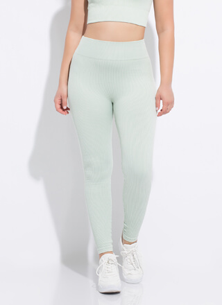 Fit 'Fit Ribbed High-Waisted Leggings