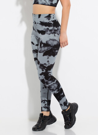 Ink Well Ribbed Tie-Dye Leggings