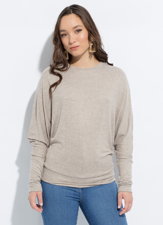 Always In Style Soft-Knit Dolman Top