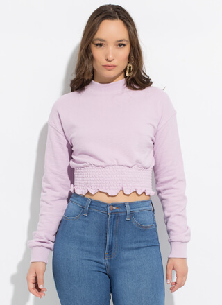 Precious Ruffled Smocked Crop Top
