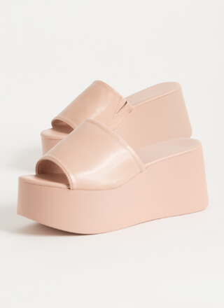 Thru Thick And Thick Platform Wedges