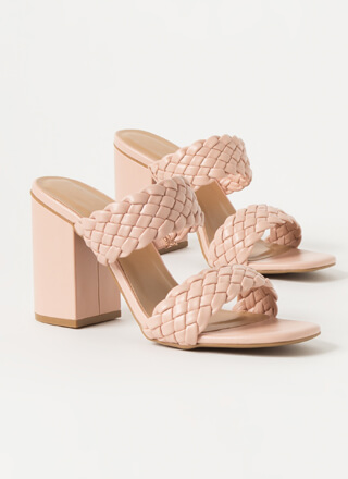 Up And Weave Chunky Braided Mule Heels
