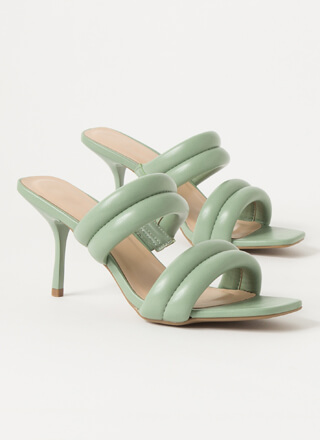 The Next Step Padded Strap Mule Heels