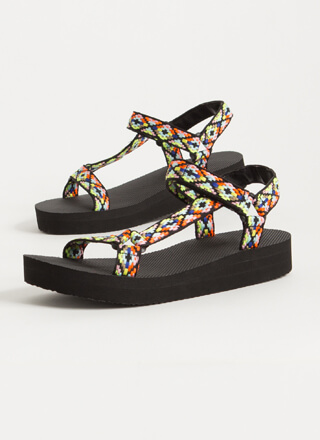Colorful Adventures Strappy Sandals