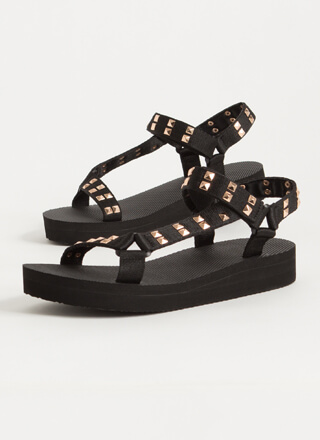 Edge Of Nowhere Strappy Studded Sandals