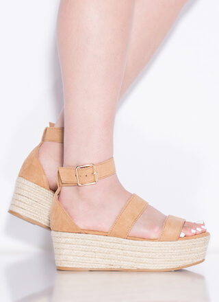 Picnic Time Braided Platform Wedges
