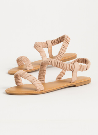 Fun Day Out Scrunchy Strap Sandals