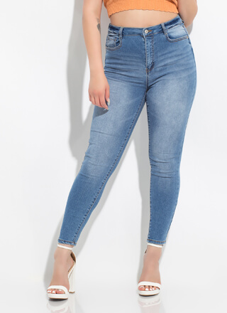 Fast 'Fit Stonewashed Skinny Jeans