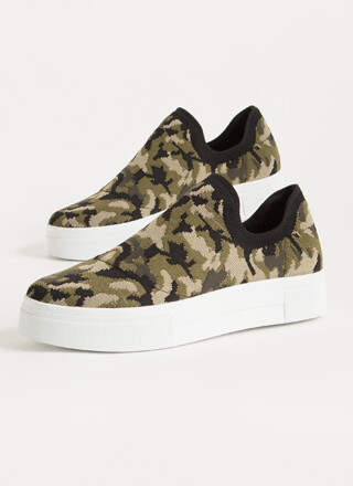 Knits So Easy Camo Slip-On Sneakers