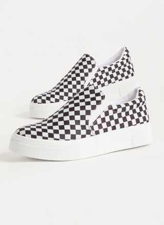 Game Of Checkers Slip-On Sneakers