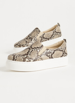 Snake Tale Slip-On Platform Sneakers