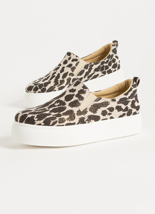 Leopard Tale Slip-On Platform Sneakers