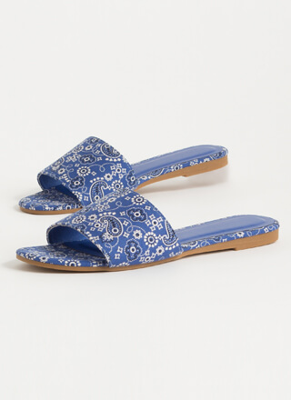 Zest For Life Bandana Slide Sandals
