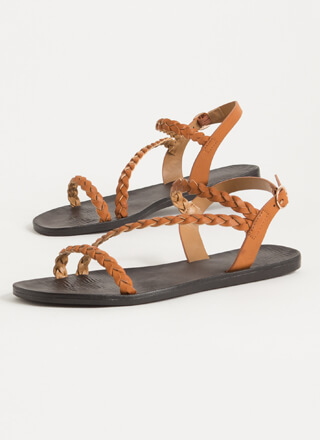 The Boho Life Braided Strap Sandals