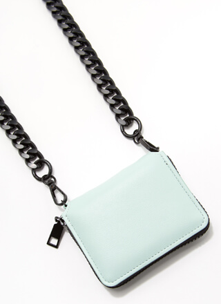 Pay It Forward Chunky Chain Strap Wallet