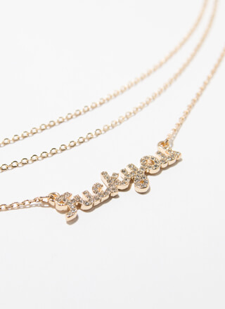 F All Of You Jeweled Necklace Set