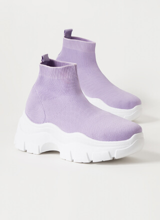 Socks To Be You Knit Platform Sneakers