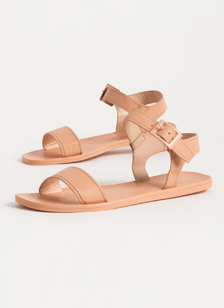 Every Day Strappy Faux Leather Sandals