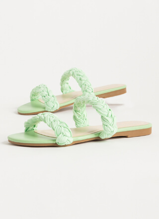 Chic Sashay Braided Slide Sandals