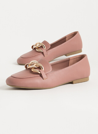 Send Me The Links Chained Loafer Flats