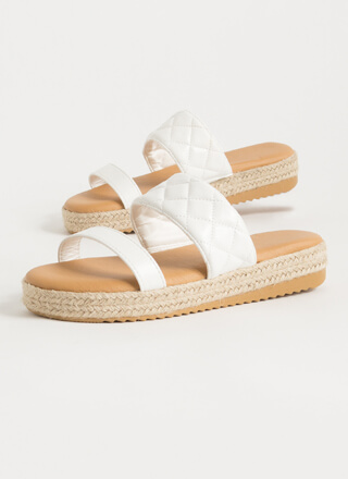I Plead Quilty Braided Slide Sandals