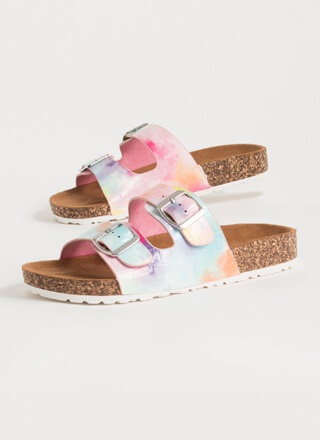 Easy Way Out Tie-Dye Slide Sandals