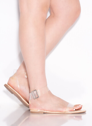 Clear The Air Strappy Illusion Sandals