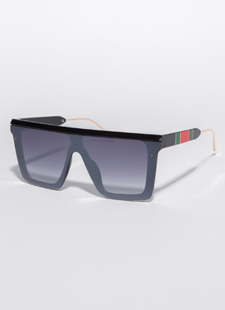 Touch Of Luxury Stripe Accent Sunglasses