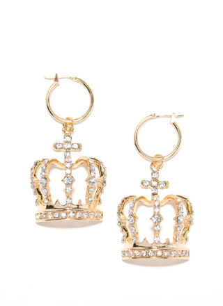 The Crowns Jeweled Hoop Earrings