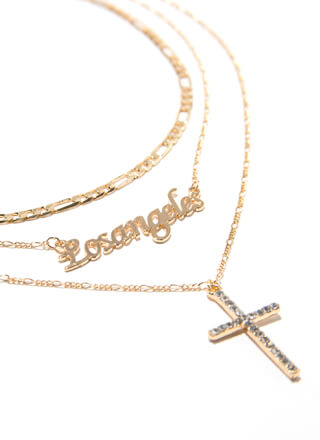 All A-Cross Los Angeles Necklace Set