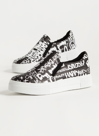 Tag Me Slip-On Graffiti Sneakers