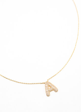 The Letter A Gold-Dipped Charm Necklace