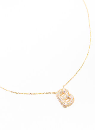 The Letter B Gold-Dipped Charm Necklace
