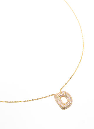 The Letter D Gold-Dipped Charm Necklace