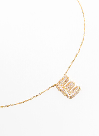 The Letter E Gold-Dipped Charm Necklace